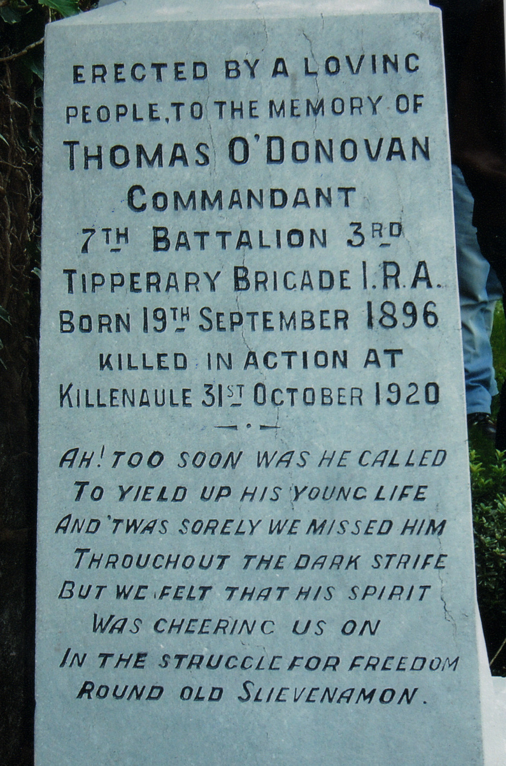 Commemoration of Tom O'Donovan