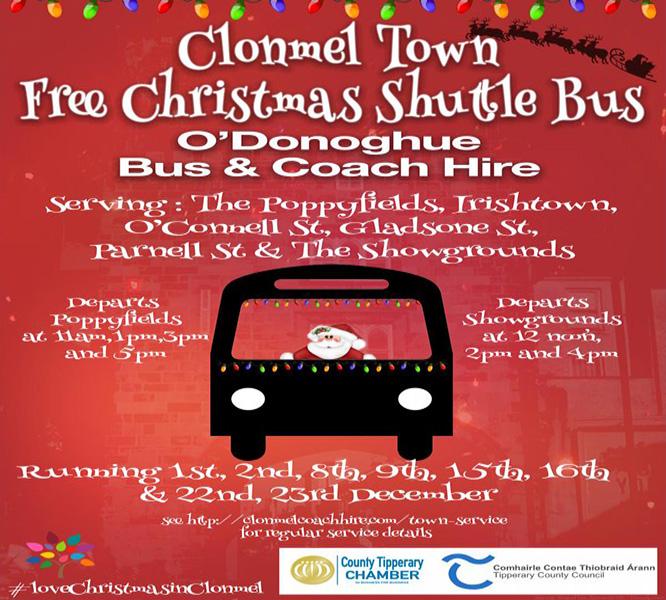 FREE CHRISTMAS BUS – CLONMEL TOWN