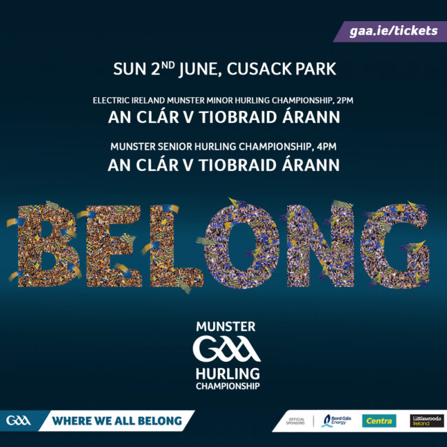 Munster Hurling Championship Round 3 – Tipperary v Clare – 2nd June 2019