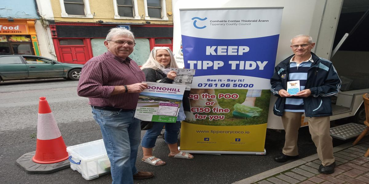 THE ENVIRONMENT & CLIMATE ACTION INFORMATION TRAILER IS IN TIPPERARY TOWN TODAY 11 JULY
