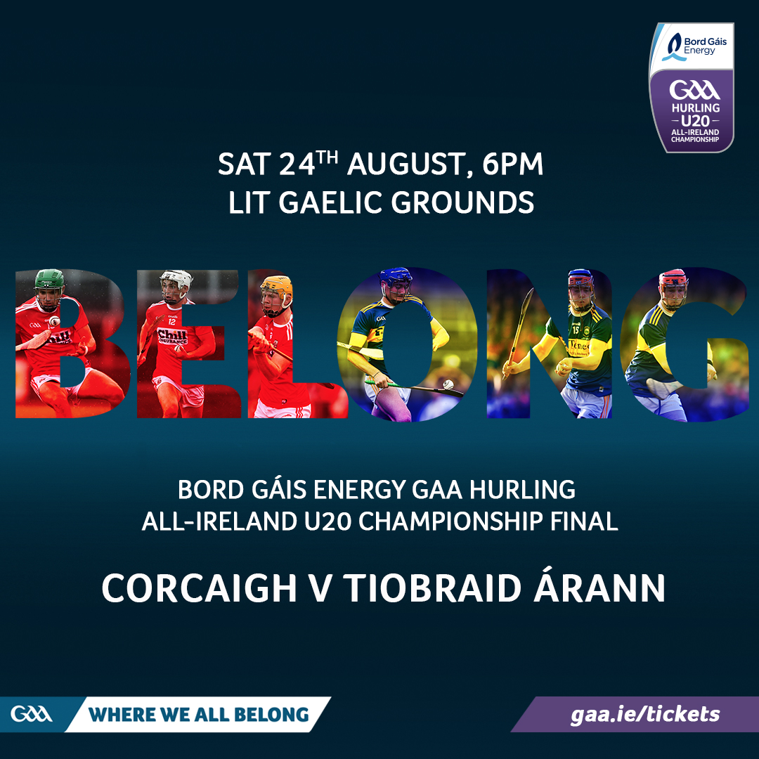 2019 Bord Gáis Energy GAA Hurling All-Ireland Under 20 Championship Final – Tipperary V Cork